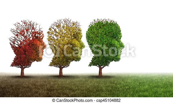 Demencia y recuperación mental - csp45104882