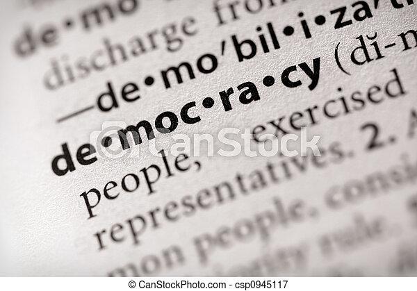 Democracia - csp0945117