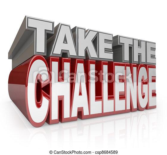 Toma el desafío de palabras 3D iniciativa de acción - csp8684589