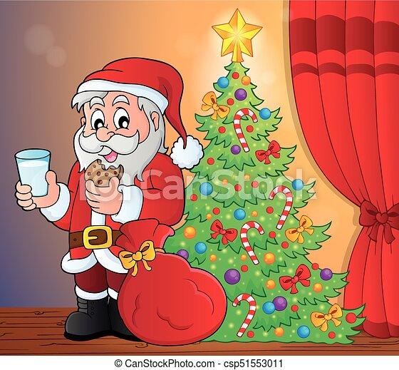Santa Claus desayuno tema 5 - csp51553011