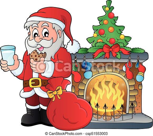 El tema del desayuno de Santa Claus 3 - csp51553003