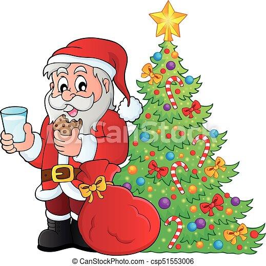 Tema de desayuno de Santa Claus 4 - csp51553006