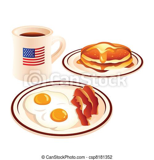 Desayuno americano - csp8181352