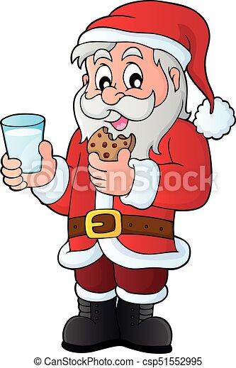 El tema del desayuno de Santa Claus 1 - csp51552995