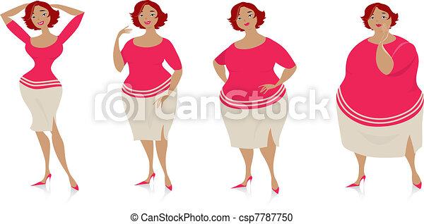 Cambios de tamaño tras dieta - csp7787750