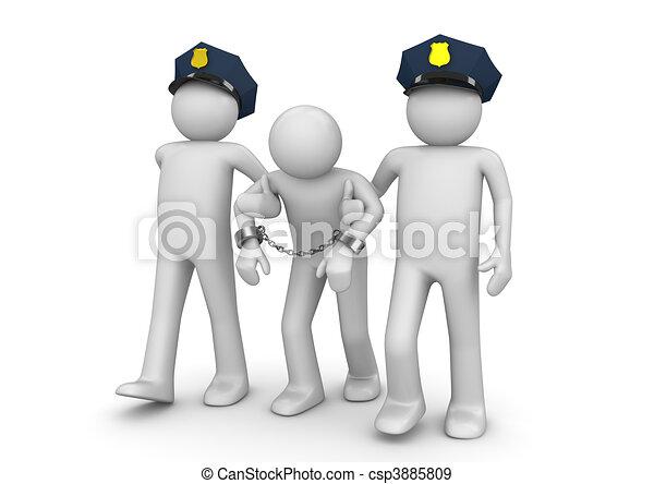 Detenido forajido, recolección legal - csp3885809