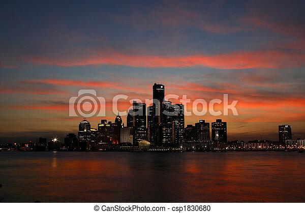 Detroit Skyline - csp1830680