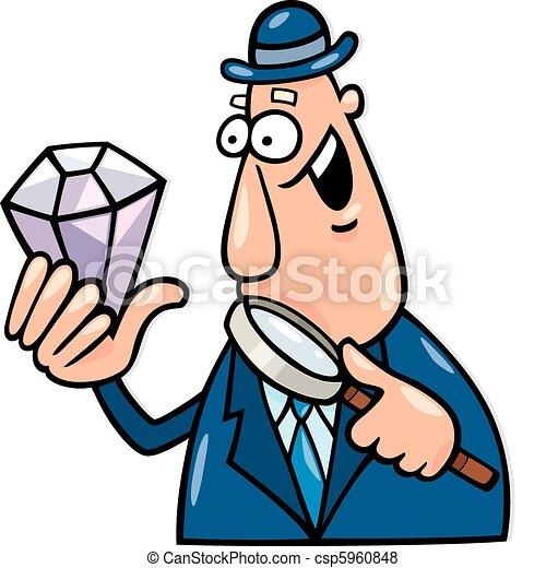 Hombre con diamantes - csp5960848