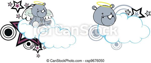 Diario del ángel del rinoceronte - csp9676050