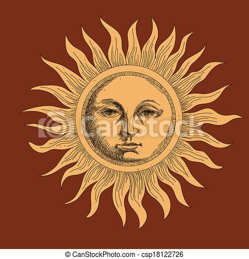 Dibujando el sol - csp18122726