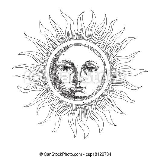 Dibujando el sol - csp18122734