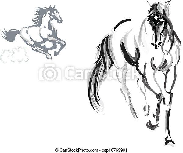Dibujo de caballo - csp16763991