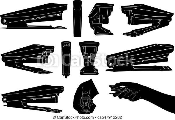Un conjunto de grapadoras diferentes - csp47912282