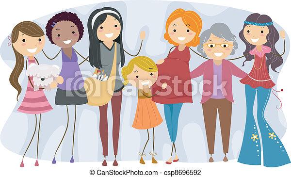 Mujeres de diferentes generaciones - csp8696592