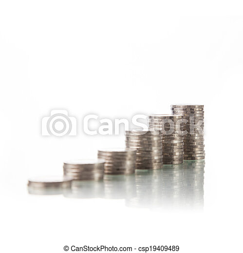 Monedas de dinero - csp19409489