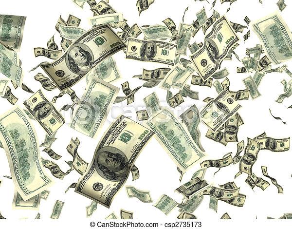 Dinero en blanco - csp2735173