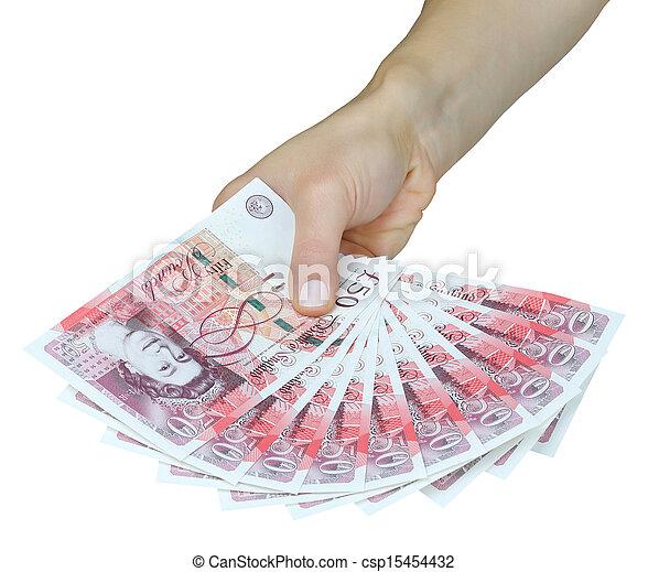 Dinero británico, libras británicas - csp15454432