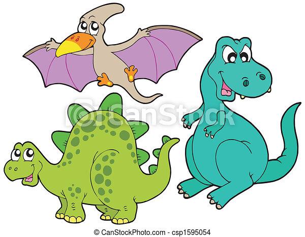 Una colección de dinosaurios - csp1595054