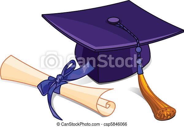 Capa de graduación y diploma - csp5846066