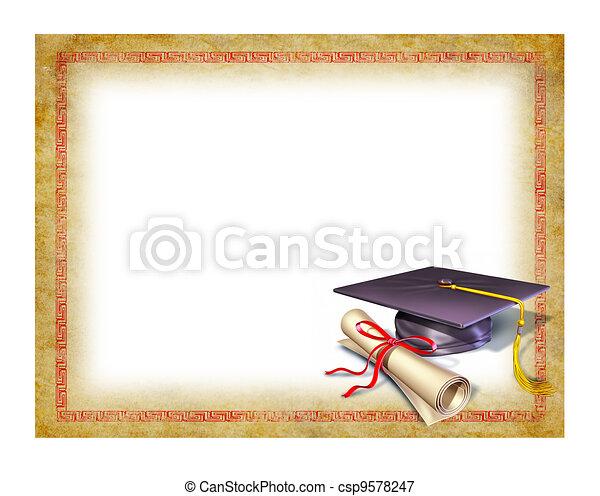 Graduación en blanco - csp9578247