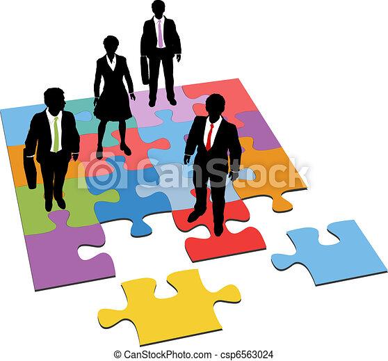 La gente de negocios resuelve los recursos - csp6563024