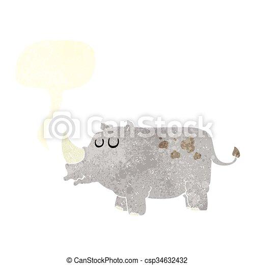 Rhino de dibujos animados - csp34632432