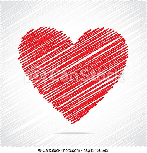 Diseñador de corazón rojo - csp13120593