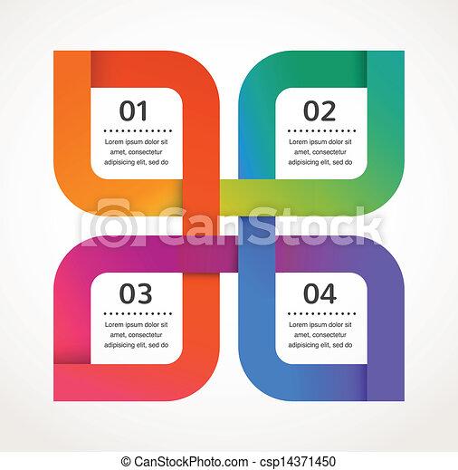 Diseño abstracto e infgráfico, fondo, icono vector - csp14371450