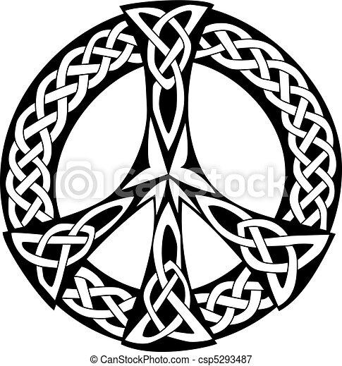Diseño celta, símbolo de paz - csp5293487
