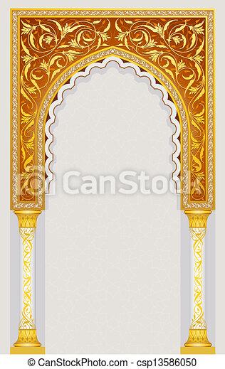 Diseño de arcos islámicos - csp13586050