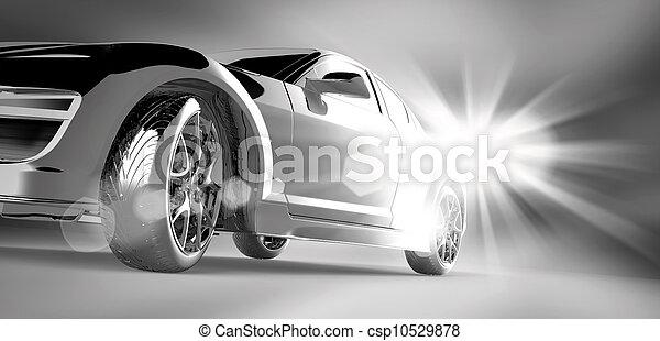 Diseño de autos 3D - csp10529878