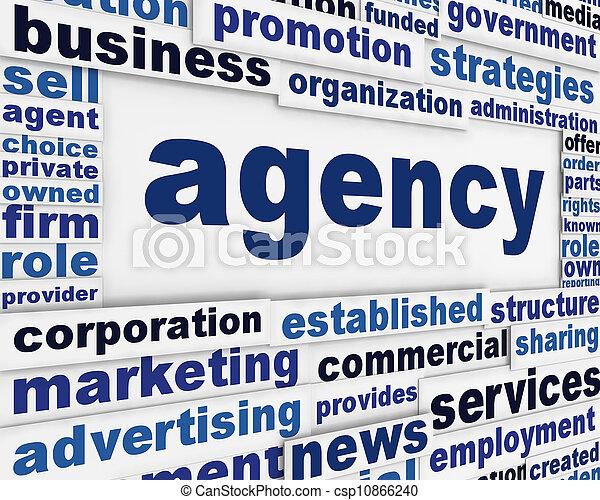 Diseño de carteles de la Agencia - csp10866240
