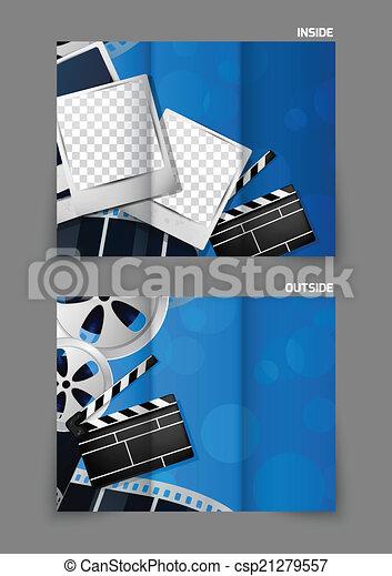 Diseño de folletos de cine - csp21279557
