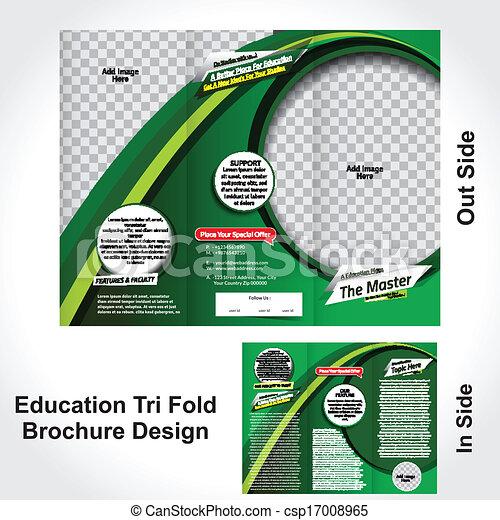 Diseño de folletos de educación - csp17008965
