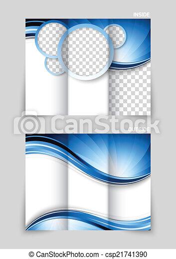 Diseño de folletos triple - csp21741390