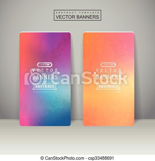 Diseño de fondo suave y colorido para pancartas - csp33488691