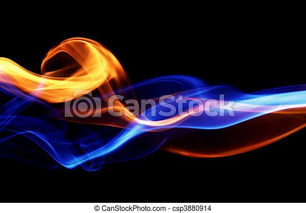 Diseño de fuego y hielo - csp3880914