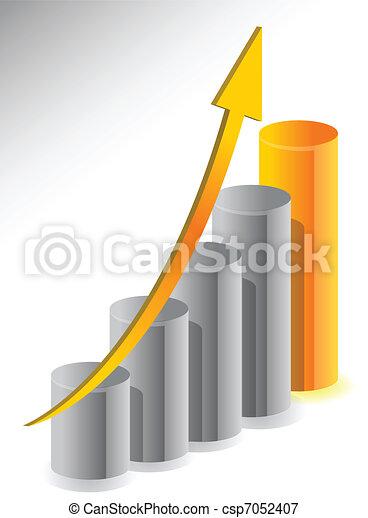Diseño de ilustración de crecimiento de negocios - csp7052407