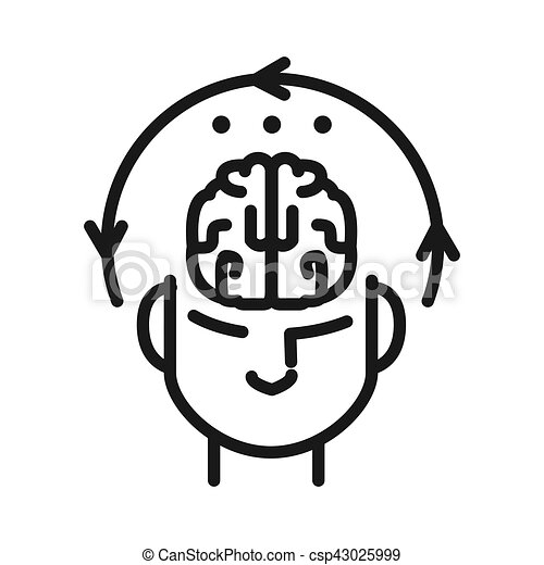 Diseño de ilustración mental - csp43025999