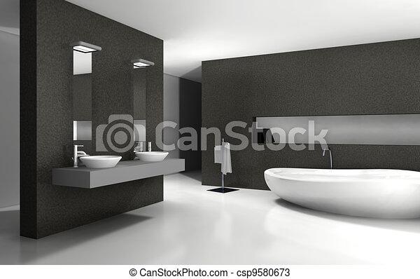 Diseño de interiores del baño - csp9580673