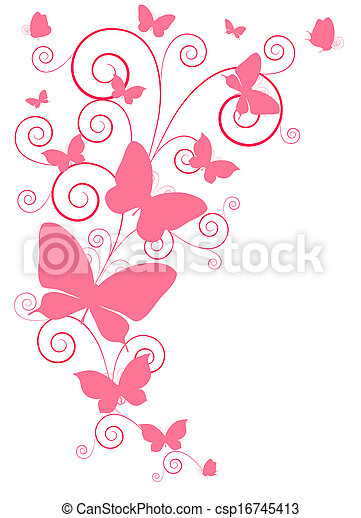 Diseño de mariposas - csp16745413