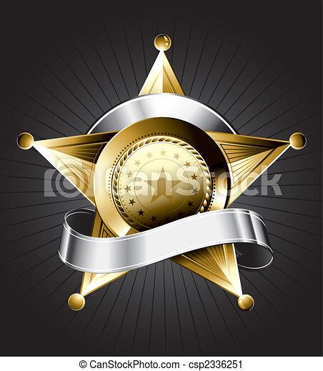 Diseño de placas del sheriff - csp2336251