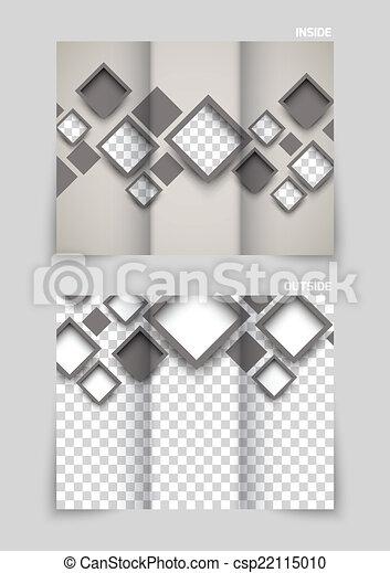 Diseño de plantilla tri-pliegado - csp22115010