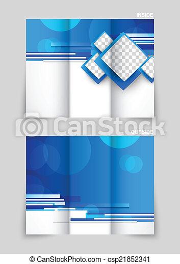 Diseño de plantilla tri-pliegado - csp21852341
