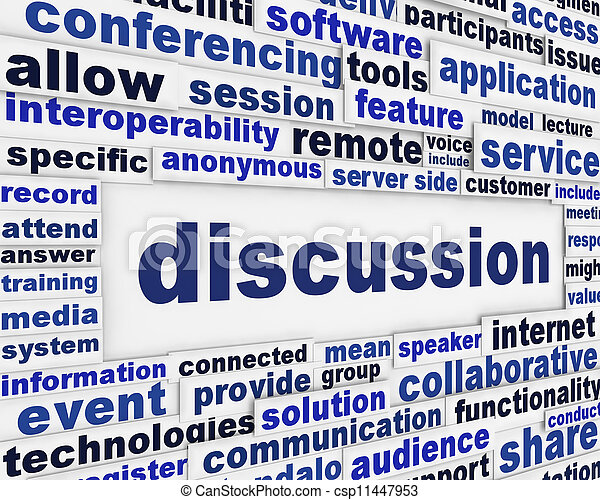 Diseño de posters de discusión - csp11447953