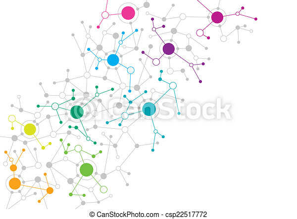 Diseño de red abstracto - csp22517772