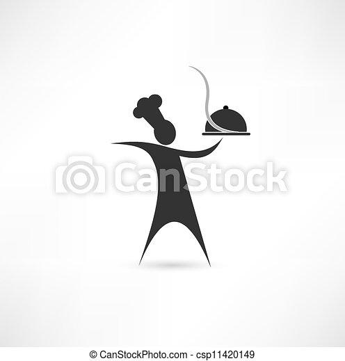 Dish y signo de cocina - csp11420149