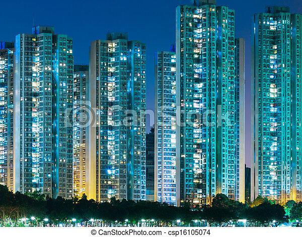 Distrito residencial en Hong Kong - csp16105074
