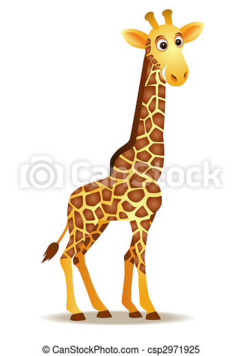 Gracioso dibujo de jirafa - csp2971925