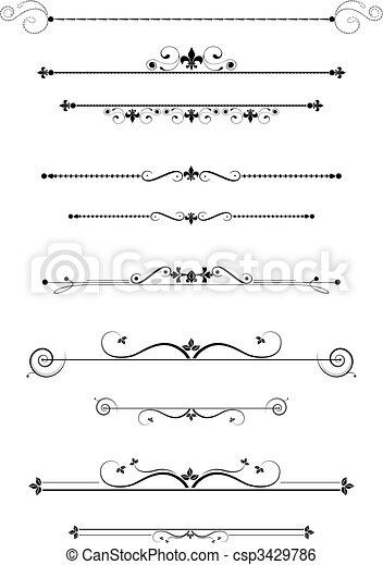 Dividentes decorativos - csp3429786